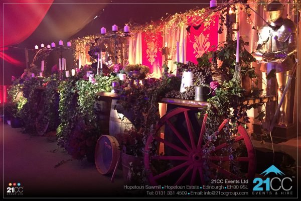 Medieval themed event by 21CC Events Ltd