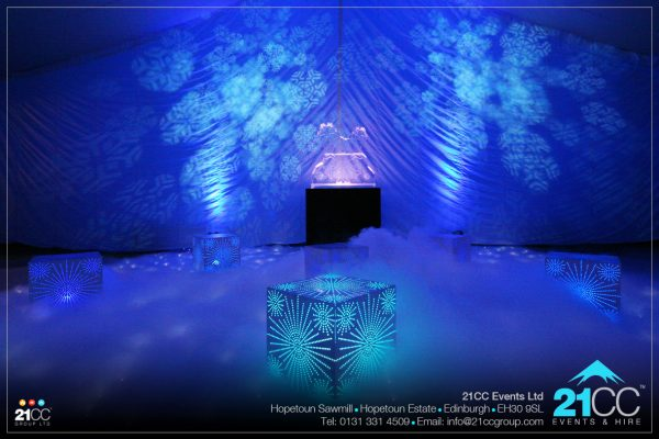 Fire and Ice sculptures by 21CC Events Ltd
