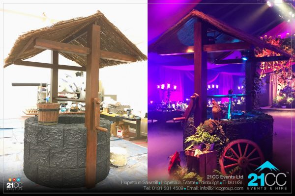 medieval wishing well for hire by 21CC Events Ltd