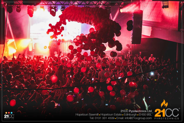 Balloon Drop with 21CC Pyrotechnics