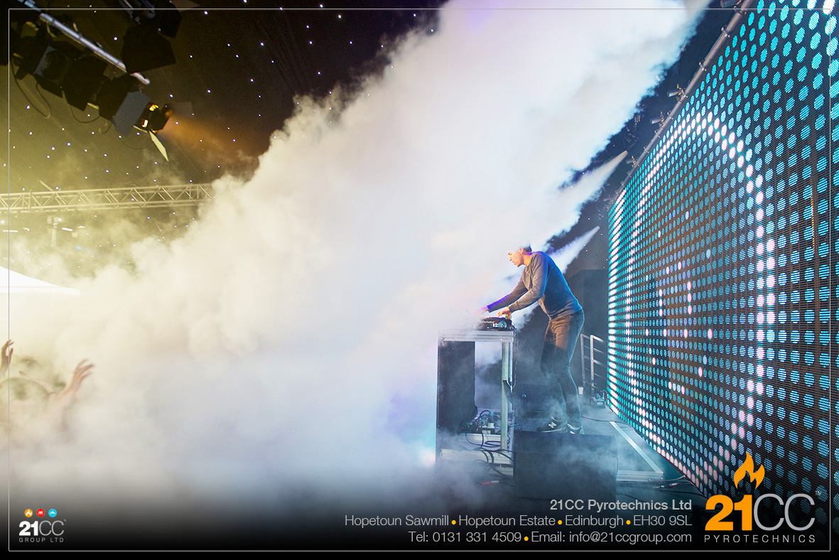 CO2 FX for hire scotland by 21CC Pyrotechnics