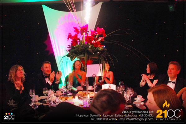special effects for corporate events by 21CC Pyrotechnics Ltd