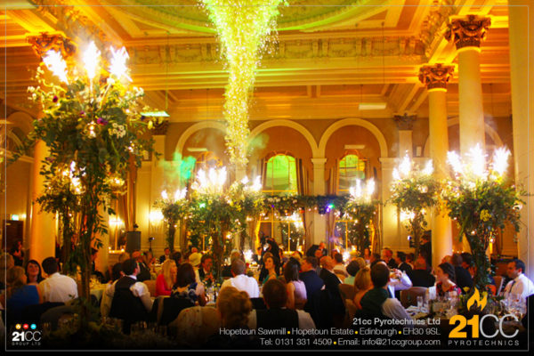 Indoor fireworks for weddings by 21CC Pyrotechnics Ltd
