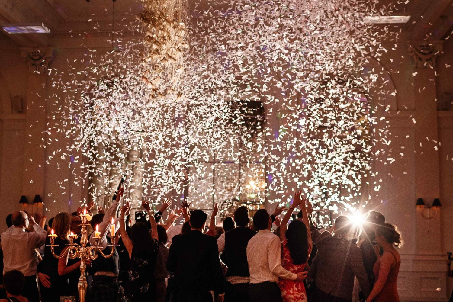 confetti cannons for weddings by 21CC Pyrotechnics Ltd